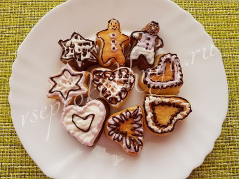 Рецепт домашнего печенья с глазурью