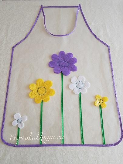 Фартук для мамы с цветами фото