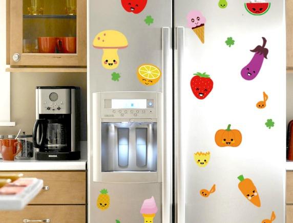 Как отмыть наклейки с холодильника
