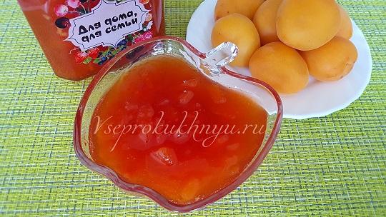 Варенье из нектаринов, абрикосов и слив