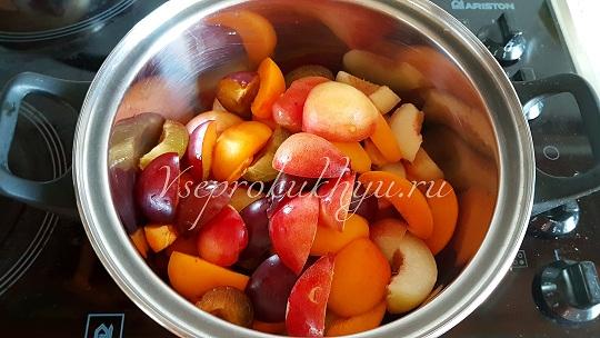 Слива нектарин абрикос дольками на варенье