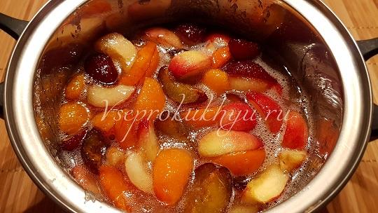 Сливы, нектарины, абрикосы в сахарном сиропе