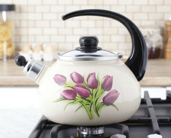 Чем очистить эмалированный чайник от накипи