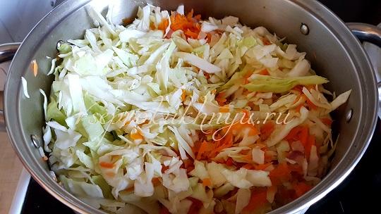 Капуста, морковь и лук на грибную солянку на зиму