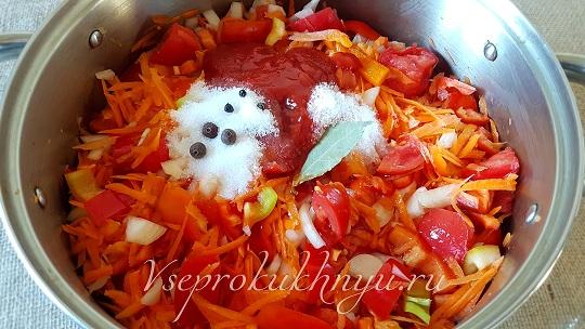 Лечо из помидор и перца и моркови