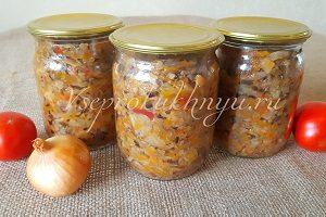 Солянка грибная с капустой рецепт приготовления на зиму
