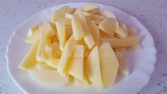 Картофель для куриного супа с вермишелью