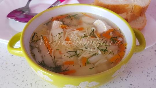 Куриный суп с вермишелью и картошкой рецепт с фото