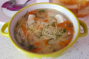 Куриный суп с вермишелью и картошкой: рецепт с фото