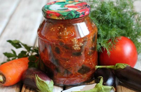 Соте из баклажанов на зиму: рецепты с чесноком и морковью