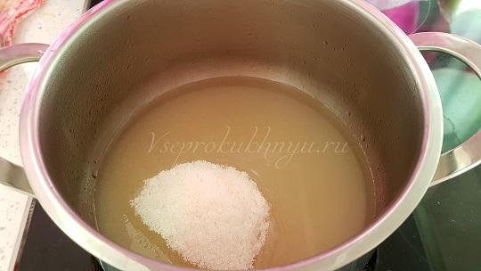 Сахарный сироп для варенья из облепихи