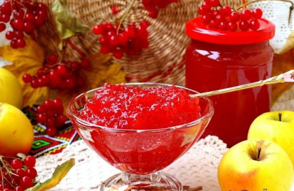 Заготовка калины на зиму: лучшие рецепты с яблоком