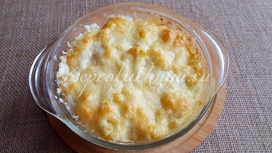 Цветная капуста в духовке с сыром рецепт