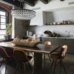 Стиль лофт в интерьере кухни: фото, идеи, дизайн