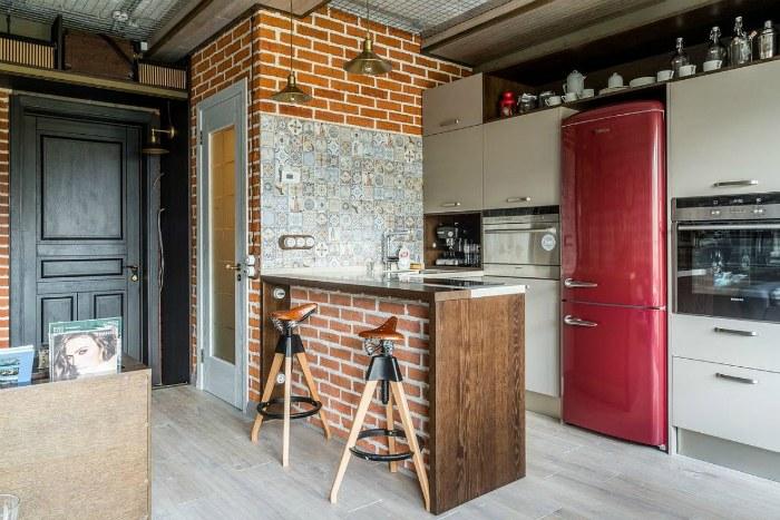 Лофт в интерьере кухни