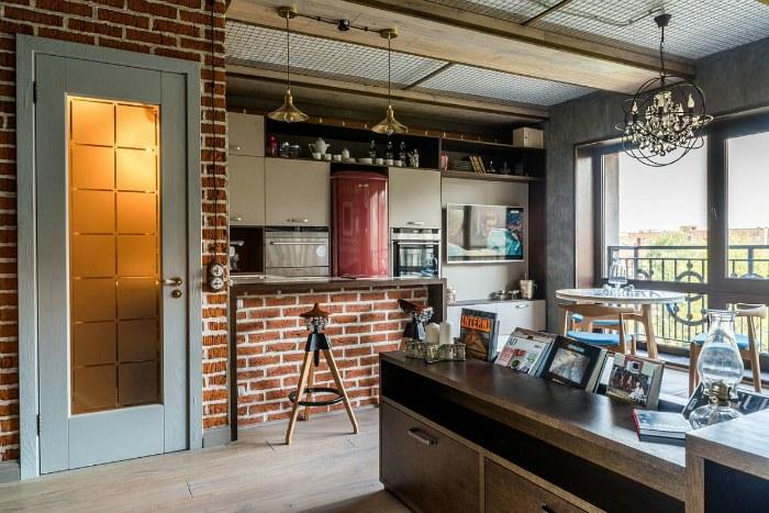 Стиль лофт в маленькой квартире фото