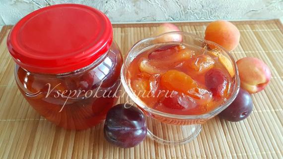 Варенье из абрикосов, слив и нектаринов