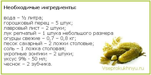 Маринованные огурцы по-болгарски