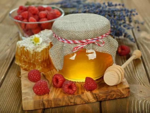 Малина с медом