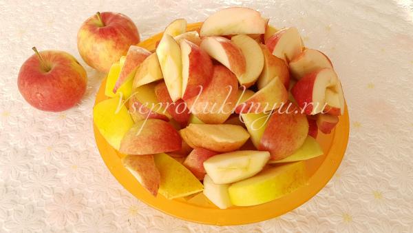 Шаг 2 подготовка яблок