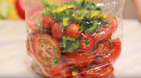 Рецепт помидоров по - корейски в пакете
