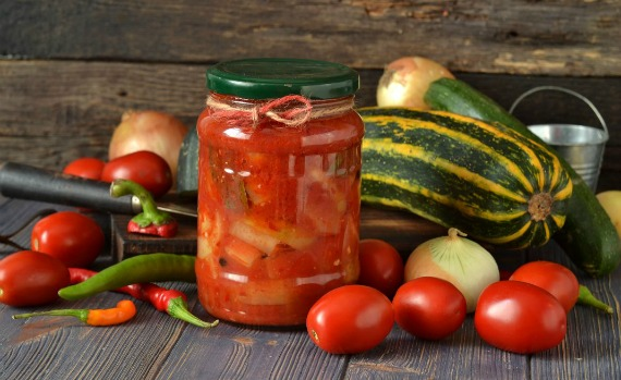 Рецепт лечо из помидор кабачков и болгарского перца