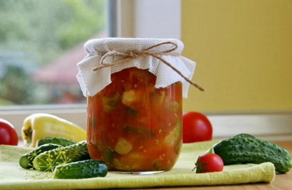 Лечо из огурцов, помидор и перца на зиму - рецепт пальчики оближешь
