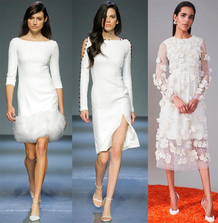 Новогодние платья белого цвета