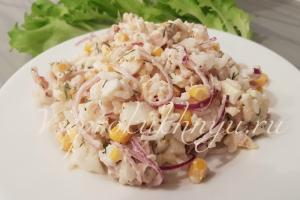Салат с тунцом и рисом рецепт с фото пошагово очень вкусный