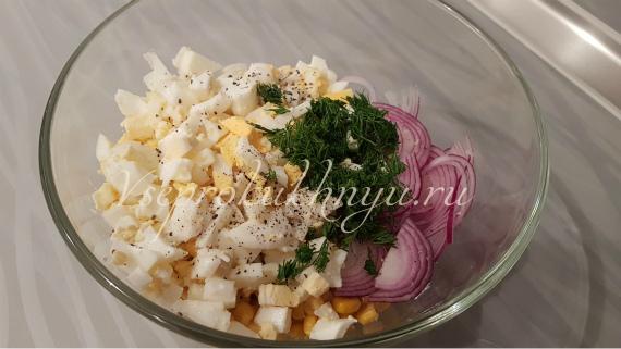 Салат с тунцом и кукурузой, рецепт