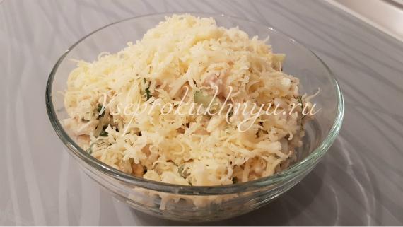 Салат с тунцом, рисом, огурцом - рецепт
