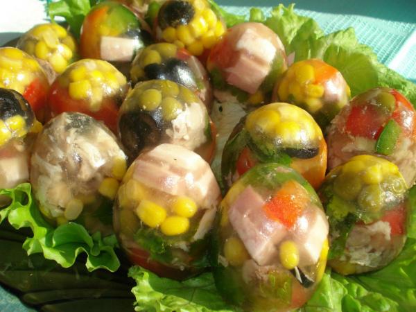 Оригинальная закуска «Яйца Фаберже»
