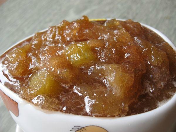 Рецепт варенья из ревеня с имбирем: вариант 1